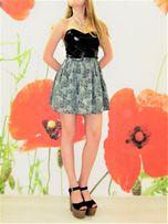 Платье мини короткое вечернее LOVE с кожаным лифом, р. S