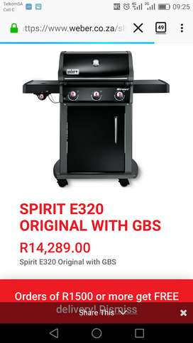 WEBER GAS BRAAI FOR SALE