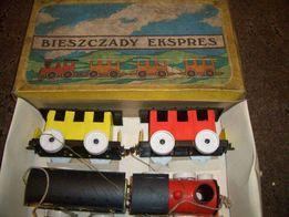 zabawka z czasów prl-u kolejka bieszczady ekspres