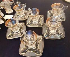 Чашки с блюдцем богемское стекло Богемия Смальта Украина купить Чехия