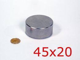 Неодимовый магнит 45х20 (70кг.) N42 КАЧЕСТВО 100% ПОЛЬША, ВСЕ РАЗМЕРЫ!