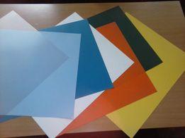 Пластик ПВХ в листах разноцветный. Тонкий!
