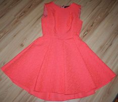 Przepiękna, żakardowa, neonowa sukienka NOOK r. 36, okazja