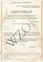 Certyfikat Kompetencji Przewóz Osób i Przewóz Rzeczy