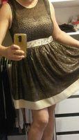 Sukienka złota czarna