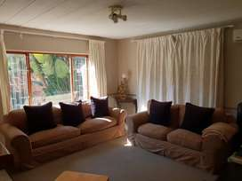 2 X Beige Lounge Suite Couches