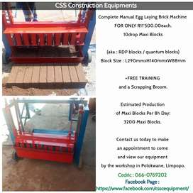 10drop_Maxi Block_Manual Egg Laying Brick Machine