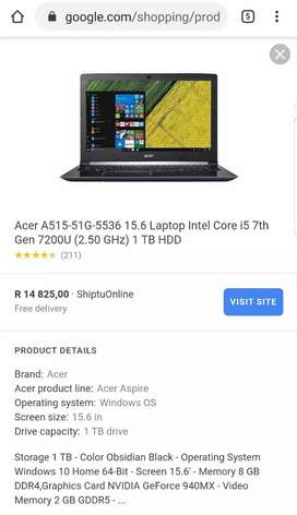 NEW ACER ASPIRE INTEL CORE I5 7TH GENERATION HIGH SPEC GAMING MACHINE