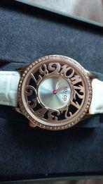 Ładny zegarek damski SO&HO. Idealny na prezent. Nowy na białym skórzan