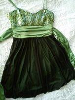 Платье из США - вечернее выпускное коктейльное зеленое черное