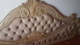 Quilted style headboard and bedside tables