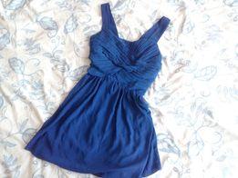 granatowa sukienka szyfonowa, rozm. 36