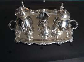 ELECTRO-PLATED NICKLE SILVER TEA SET
