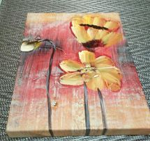 Картина на холсте без рамки нарисованная масляными красками 25х20 см