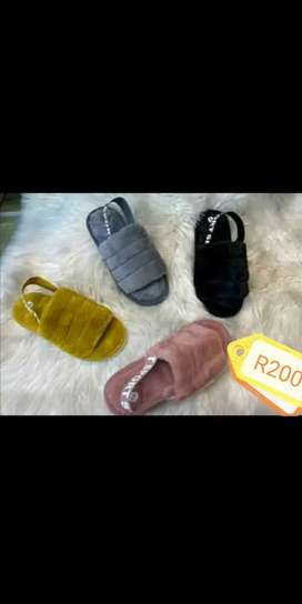 Selling fluffy shoes