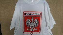 POLSKA t-shirt Godło '' 3XL'' bawełna biała