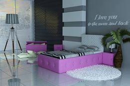 Śliczne Łóżko dla dzieci, łóżko dziecięce, łóżko z kryształkami