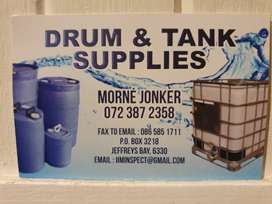 Rainwater tanks and drums