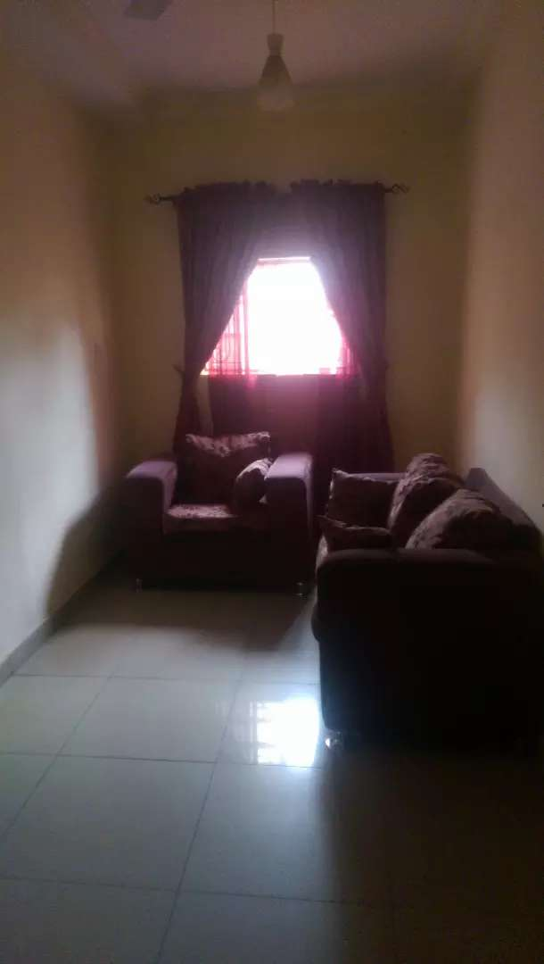 Furnished and serviced studio room with sitting room in gwarinpa 0