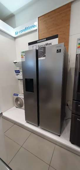 Samsung RS65  Plumbed side by side fridge .