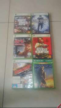 Image of 6 xbox games