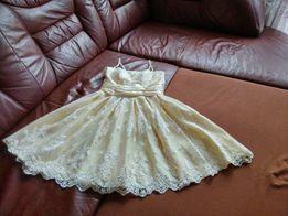 Sukienka rozkloszowana YOSHE wesele, studniówka koronka itp.