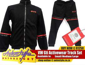 VW Gti official licensed track set, track suits, sports wear etc