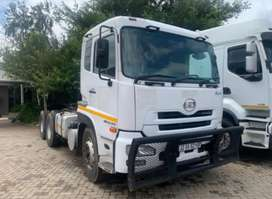 11 nissa UD 450 Trucks  WITH AFRIT side tipper trailers AVAILABLE