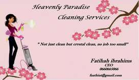 We help with the cleaning services at any time
