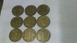 Монеты 25 коп.1992 Украины.