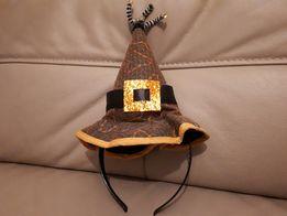 Opaska kapelusz czarownicy strój czapka czarownica akcesoria czarownic