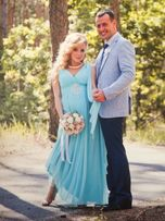 Свадебное платье (голубое)