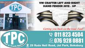 VW Crafter Left and Right Hand Fender 2018 - Up