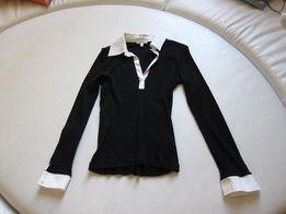 блузка на работу, черно-белая, р.38-42, Франция