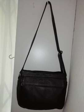 Leather soft quality handbag.