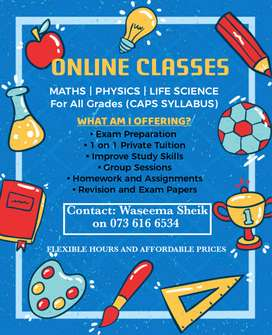 Maths, Physics and Life Science Tuitions for all grades