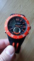 Zegarek sportowy męski COLORI Anadigi 48 Black Neon Orange