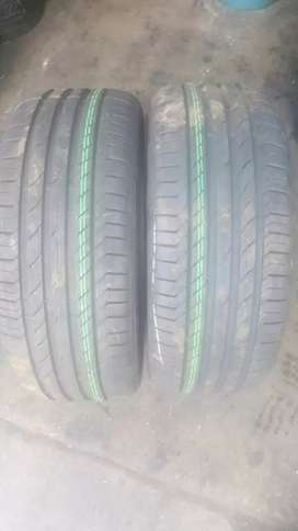 2 X 255/45/18 brand new continental runflats tyres for sell