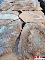 Kwarcyt Brązowy ze słojami, Kamień naturalny elewacyjny, Ścieżki
