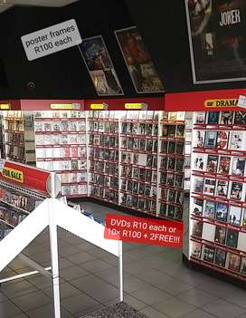 DVDs, toys, electronics, etc