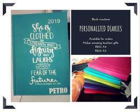 Personalized Diaries for 2020