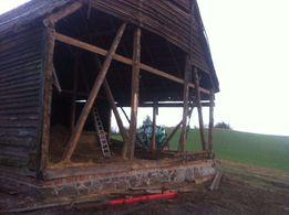 Rozbiórki budynków drewnianych stodoła dom skup rozbiórki gratis
