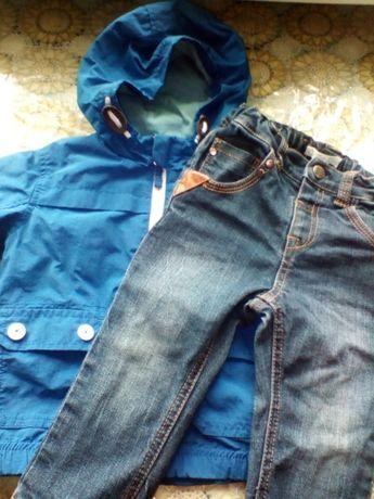 Весенний набор ветровка и джинсы на рост 80 см за 100гр Каховка - изображение 1
