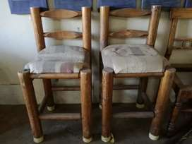 Log bar stools price is for both