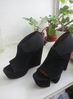 Ботильоны, туфли с открытым носком. Черные Для супер модниц.