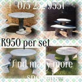 Affordable and Durable Concrete Garden Furniture