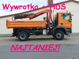 Transport HDS + Wywrotka do 7,5 tony Palety Piasek Ziemia Piach Beton