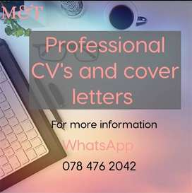 Up to date Cv and Cover Letter