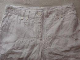 H&M Lniane białe spodnie jak nowe. Idealne na lato.