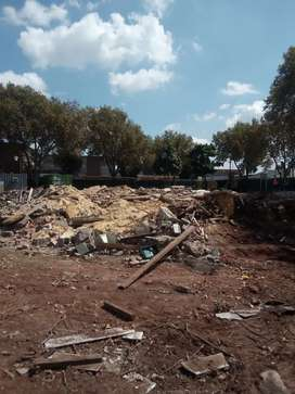 Demolition, site clearing and rubble removal